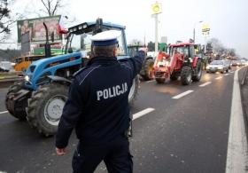 Протестующие фермеры в